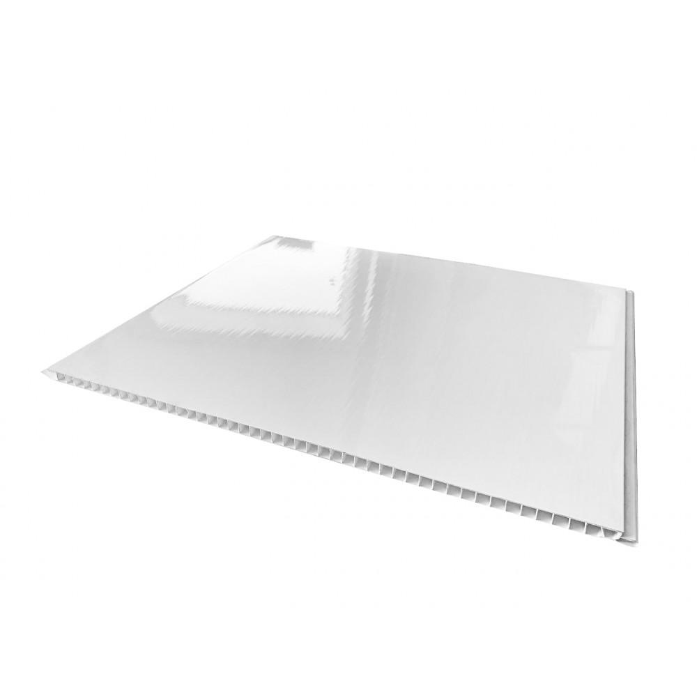 Панель пластиковая ″Panelit″ Белый 37,5 см (6,00м*0,375м)