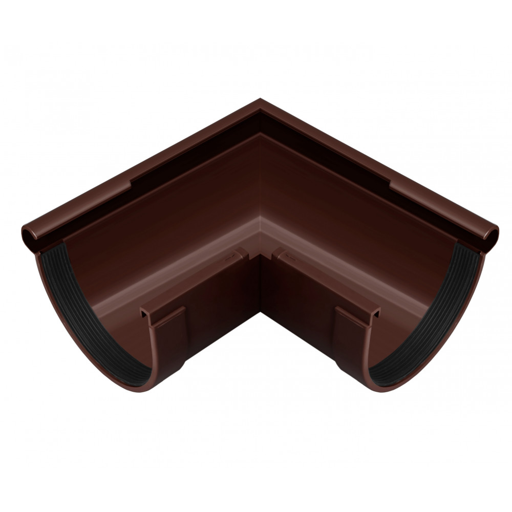Угол желоба ″Rainway″  90° 90 ПВХ коричневый