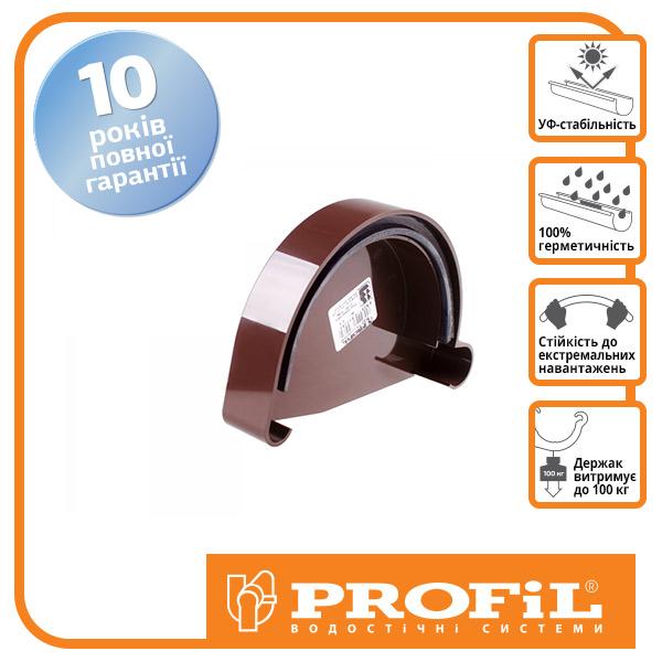 Заглушка желоба  ″Profil″ 130 коричневая (Левая)