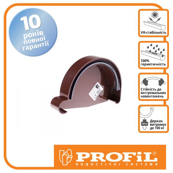 Заглушка желоба  ″Profil″ 130 коричневая (Правая)