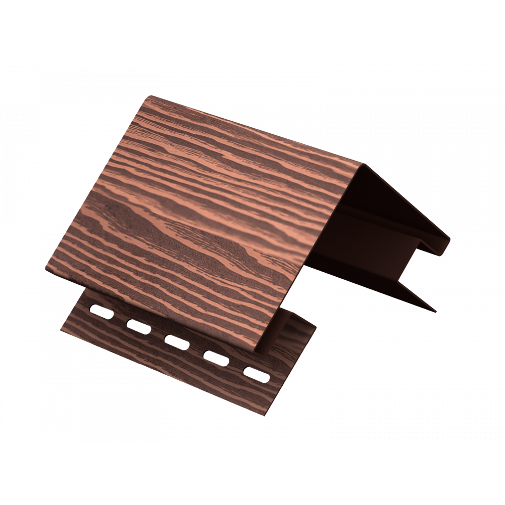 Наружный угол ″Тимбер-Блок″ Дуб морёный 3,05м