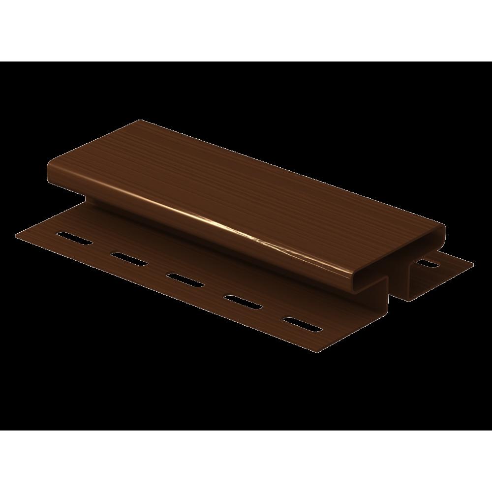Соединительная планка ″Ю-Пласт″ коричневая 3,05м