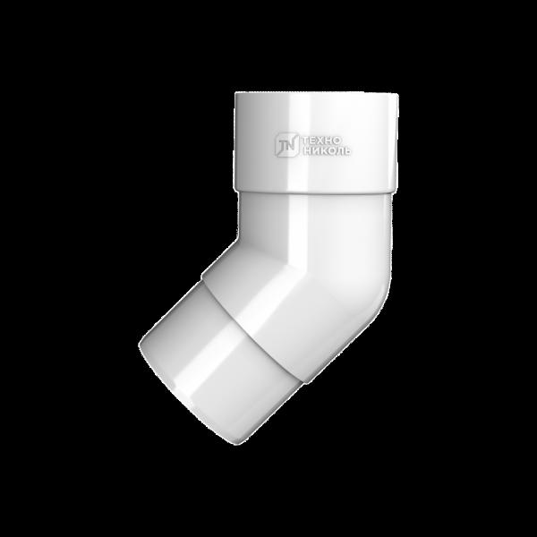 Колено трубы 108° ПВХ ,белый Технониколь