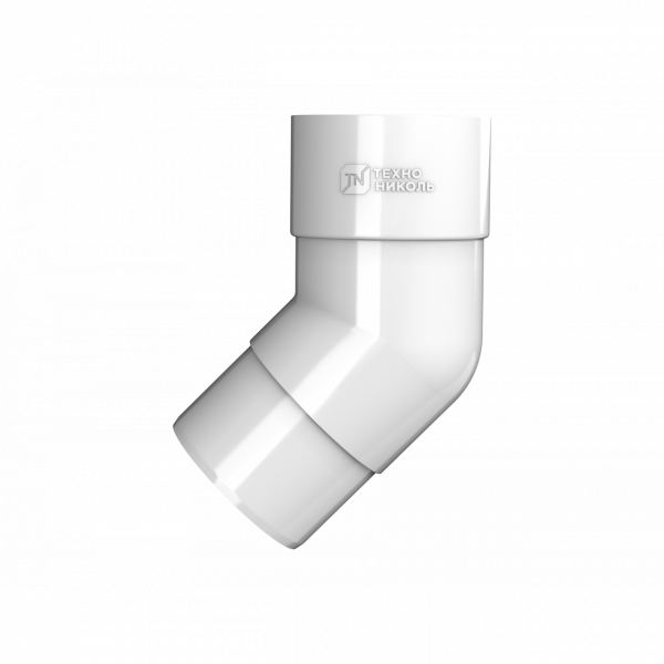 Колено трубы 135° ПВХ , белый Технониколь
