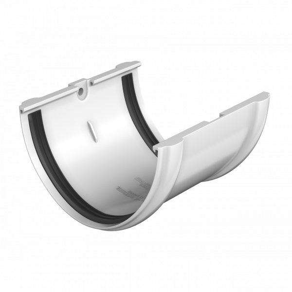 Соединитель желоба ПВХ , 125 кор. Технониколь
