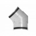 Угол желоба 135° ПВХ , 125 бел.Технониколь