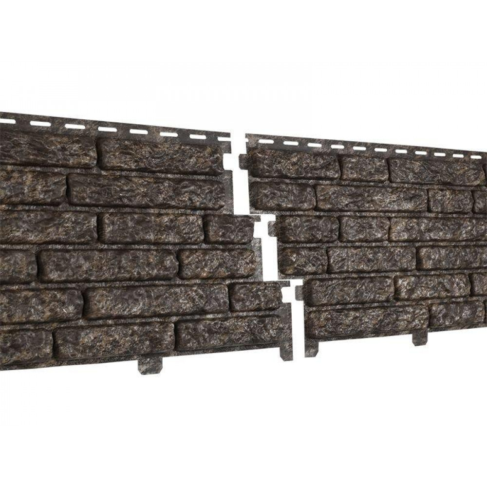 Панель Сайдинга ″Стоун-Хаус″ Кварцит коричневый 2,00м*0,25м