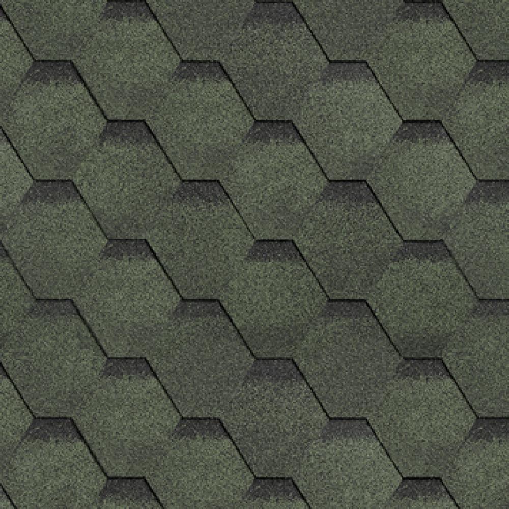 Битумная черепица ТехноНиколь ″Соната″ зелёная  3м²/уп.