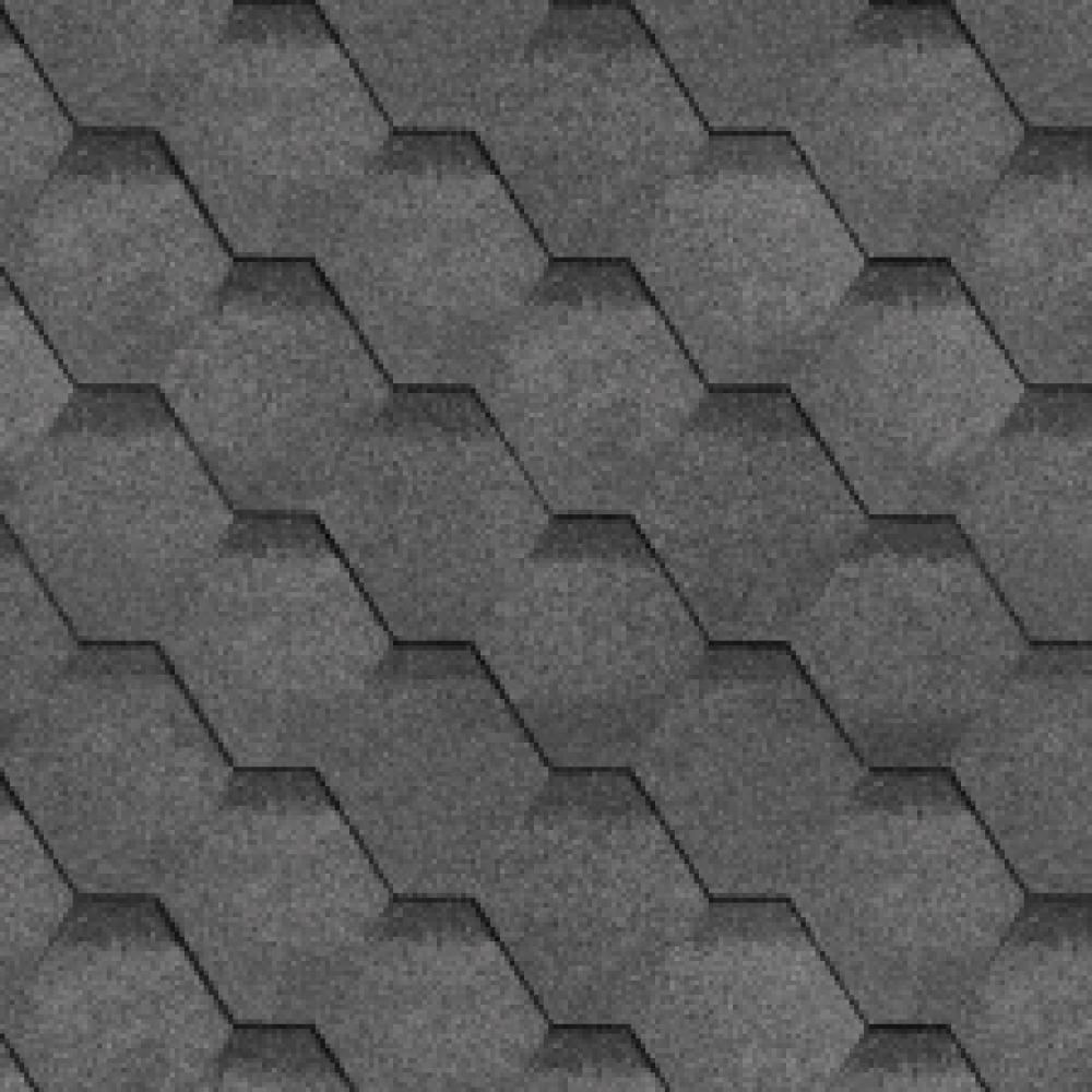 Битумная черепица ТехноНиколь ″Соната″ серая  3м²/уп.
