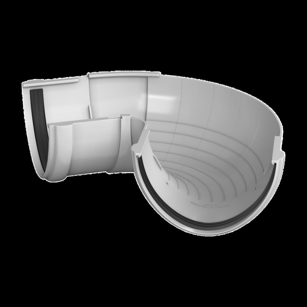 Угол желоба регулируемый  90°-150° ПВХ , 125 бел.Технониколь
