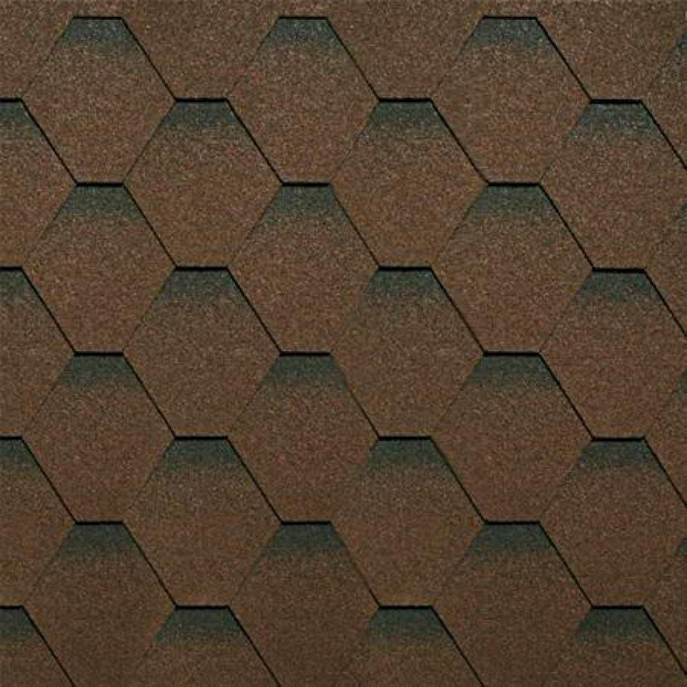 Битумная черепица ТехноНиколь ″Оптима″ коричневая (уп - 3м2)