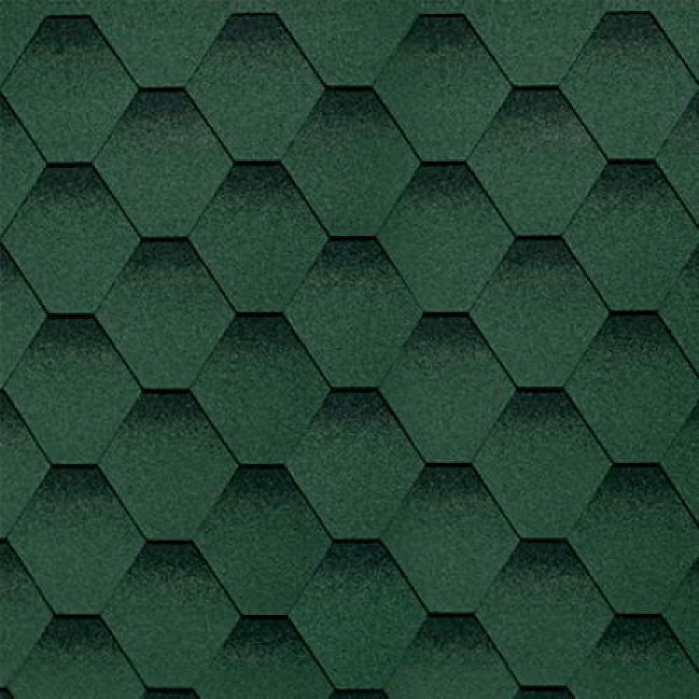 Битумная черепица ТехноНиколь ″Оптима″ зелёная (уп - 3м2)