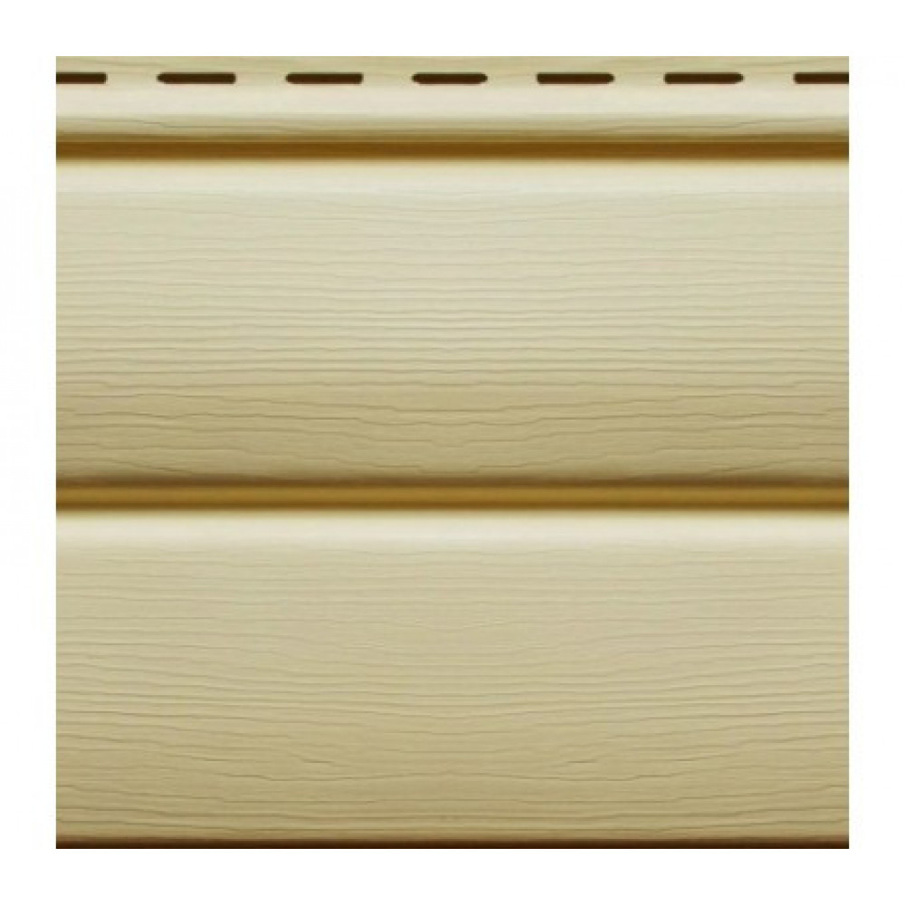 Панель Сайдинга ″Блок-Хаус″ кремовая 3,4м*0,23м