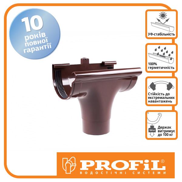 Ливнеприемник проходной ″Profil″ 130 коричневый