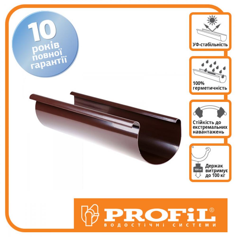 Желоб  ″Profil″ 130 коричневый