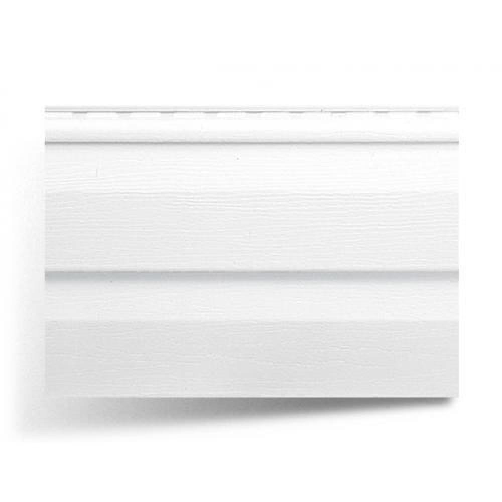 Панель виниловая ″Альта-Сайдинг″ 3,66м*0,23м белая