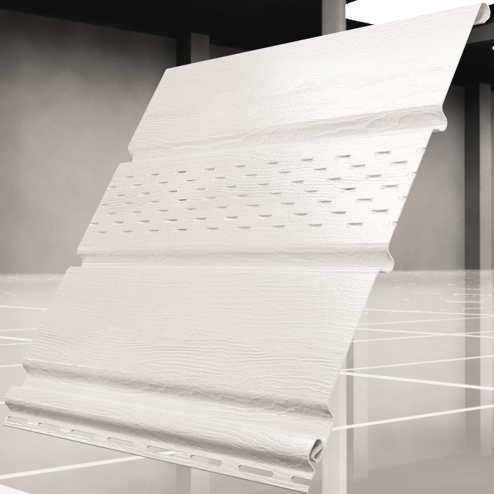 Софит ″Ю-Пласт″ белый с частичной перфорацией(0,3м*3м)