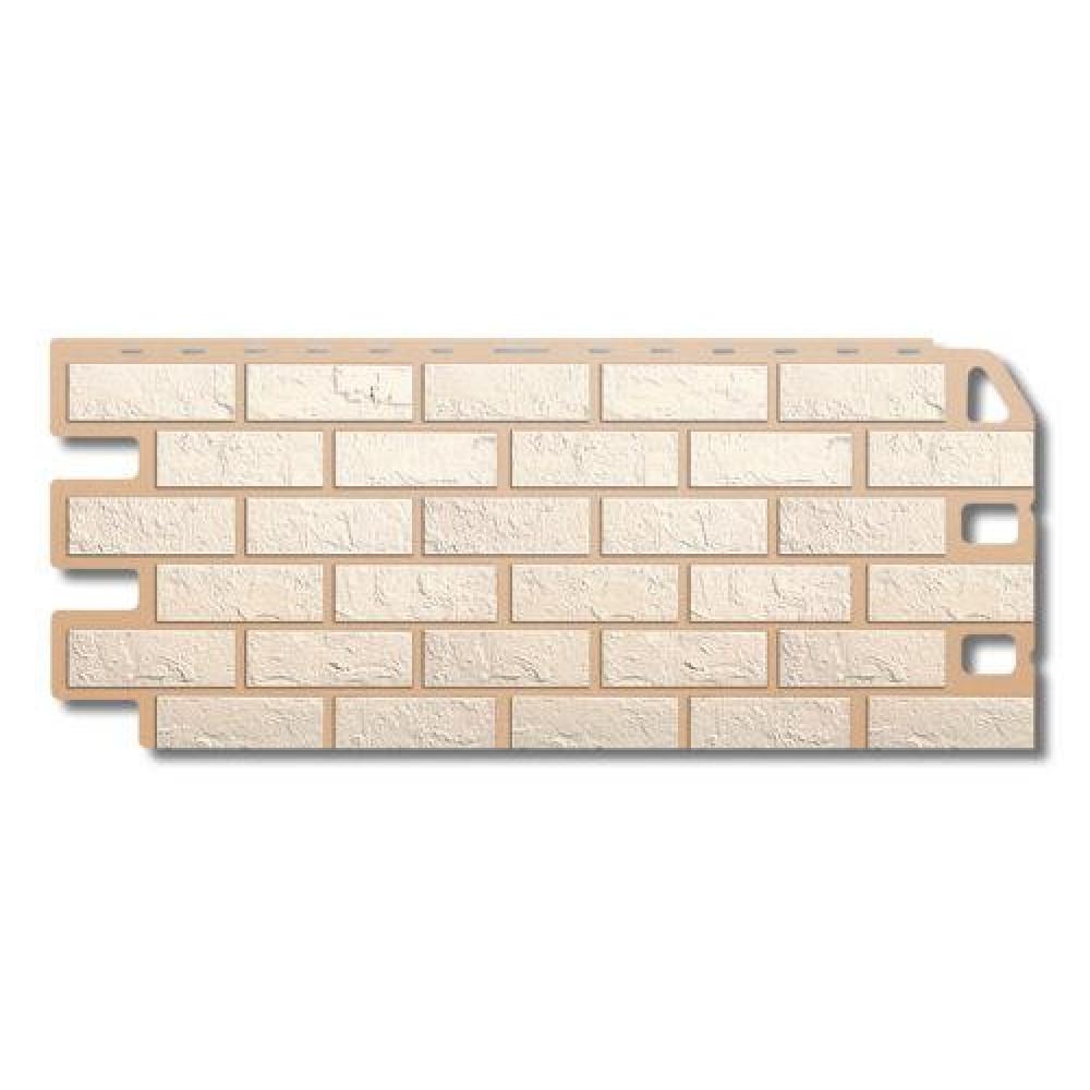 Панель фасадная ″Альта-профиль″ Кирпич Белый 1,14м*0,48м