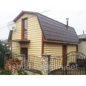 Панель сайдинга ″Block House″ однопереломный золотистый 3,1м*0,2м