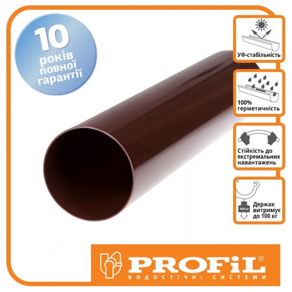 Труба 4м ″Profil″ 100 коричневый