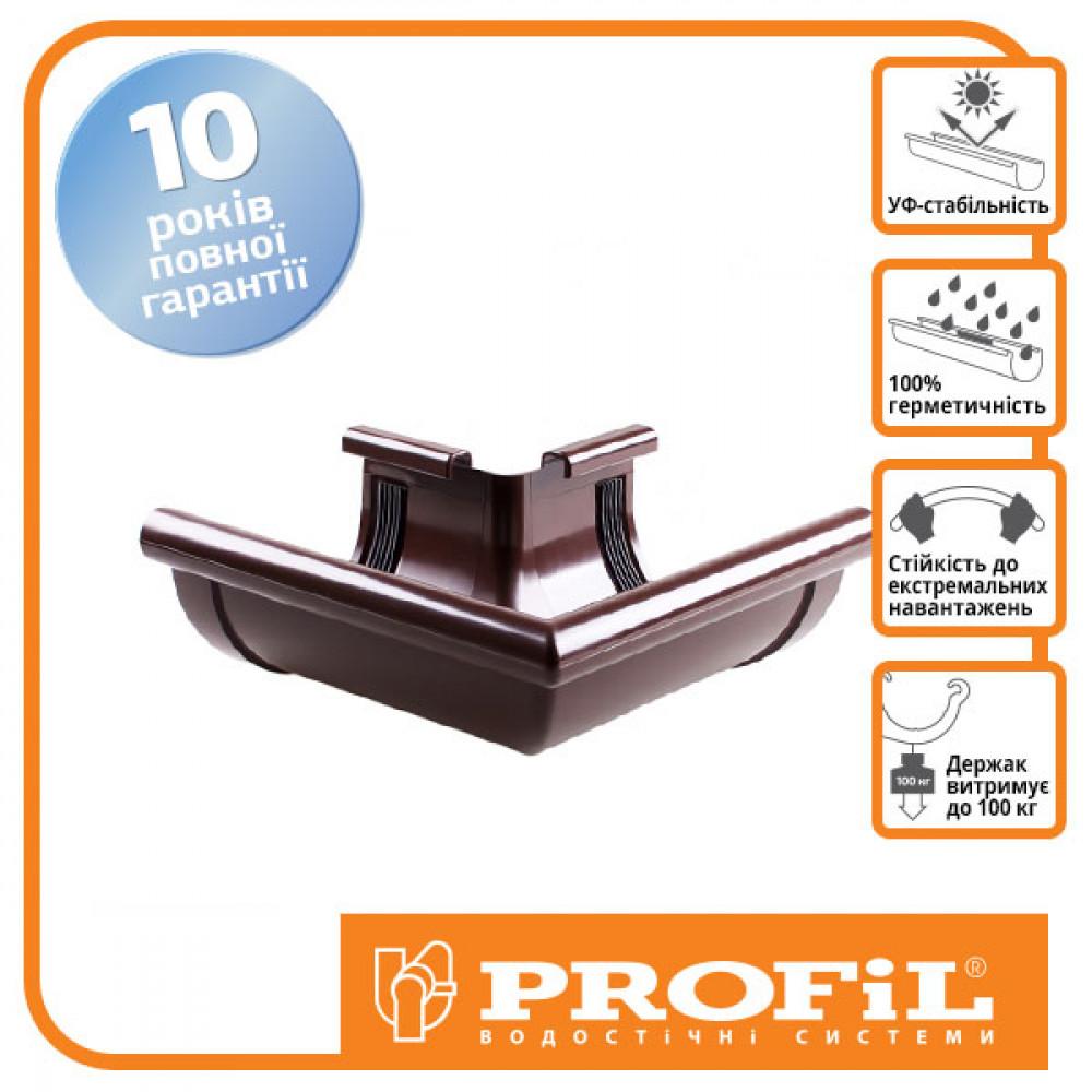 Угол наружный  90° коричневый ″Profil 130″