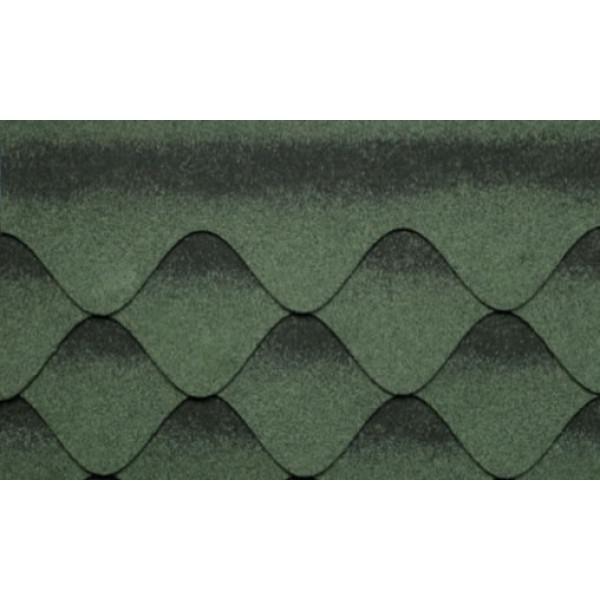 Бітумна черепиця Kerabit S+ Хвиля зелено-чорна