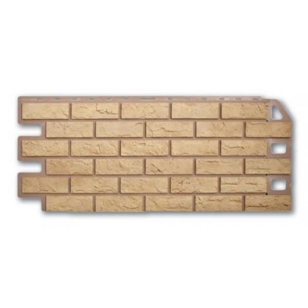 Панель фасадная ″Альта-профиль″ Кирпич Желтый 1,14м*0,48м