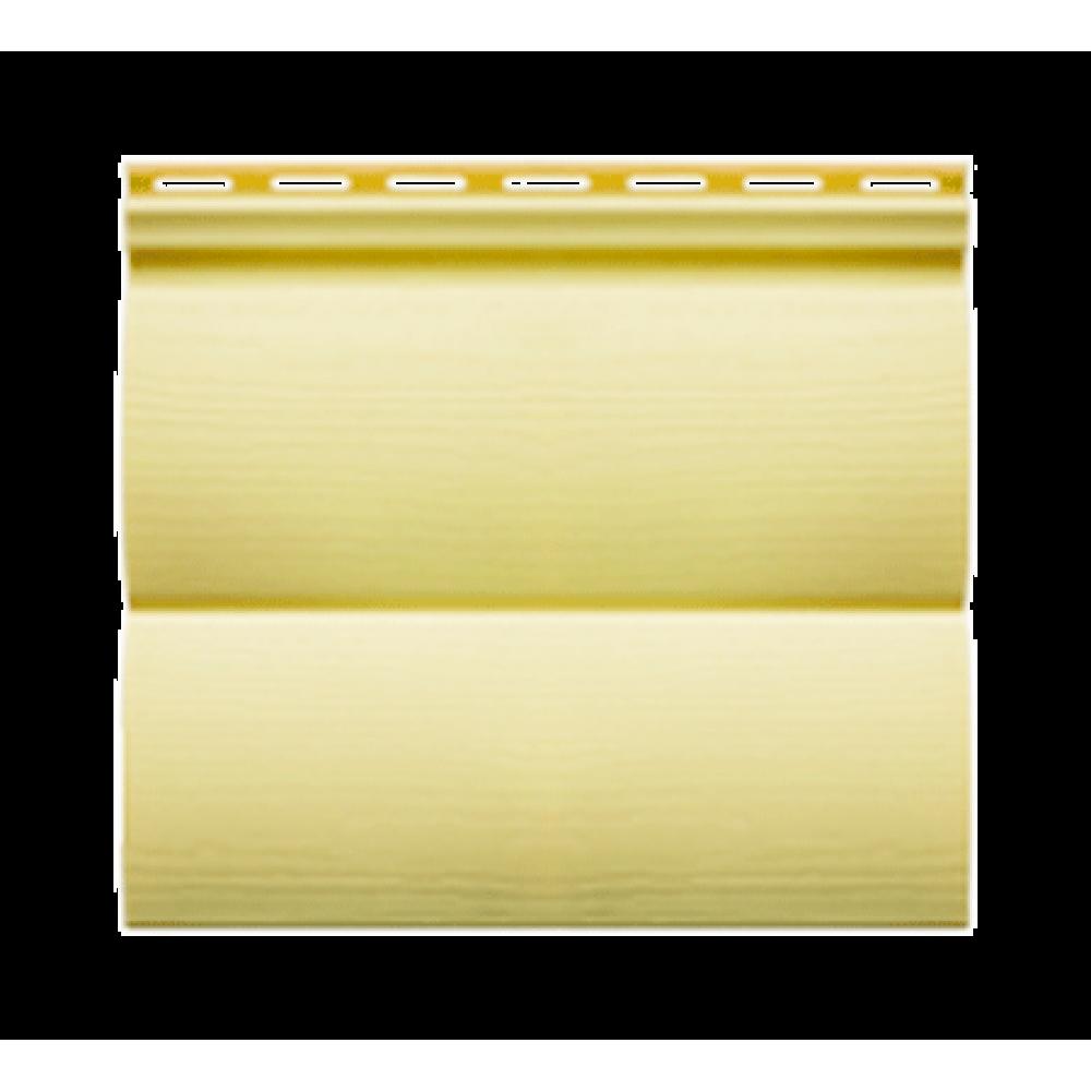 Панель сайдинга ″Block house SLIM″ лимонная (3,66*0,23)